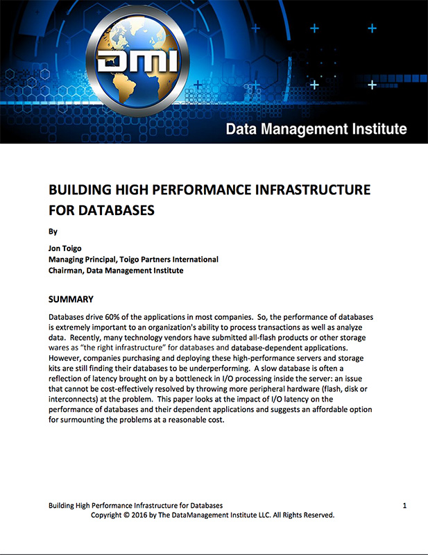 building high performance infrastructure for databases thumb