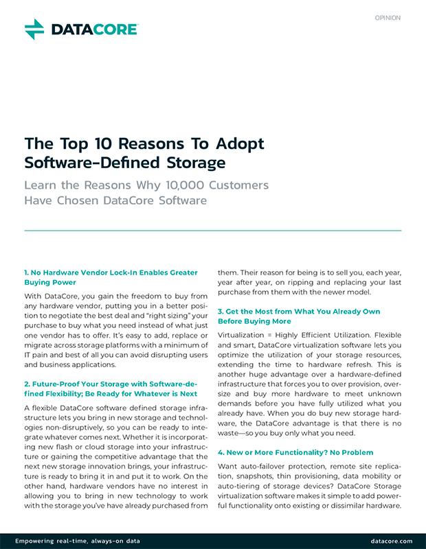 Die zehn wichtigsten Gründe für den Einsatz von SDS