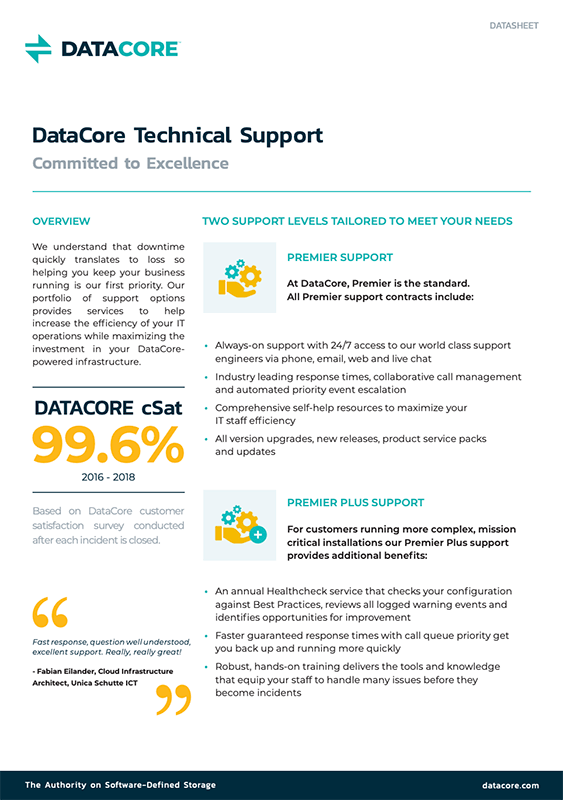 DataCore Technical Support