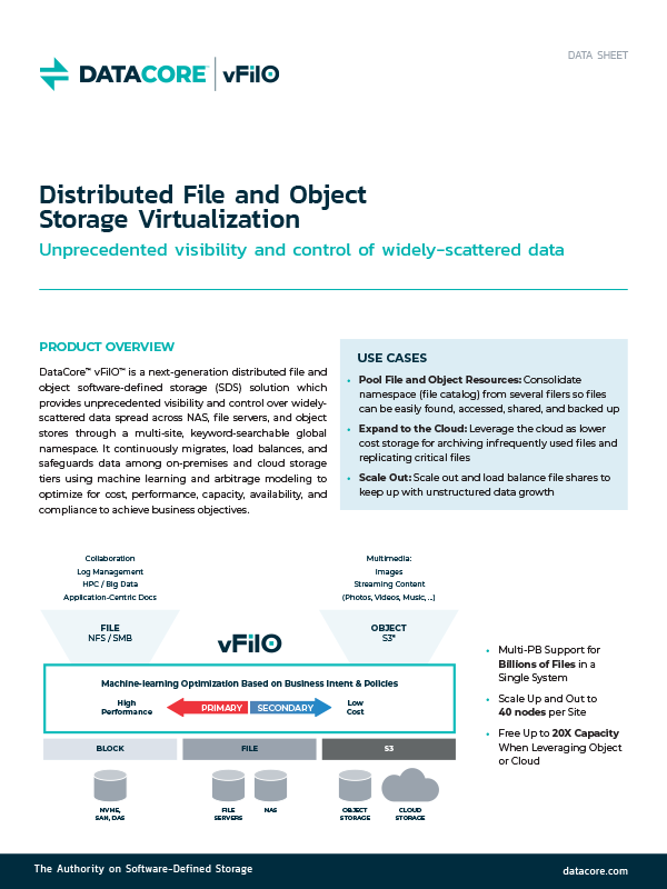 Distributed File and Object Storage Virtualization
