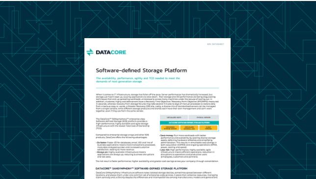 Software-Defined Storage Platform