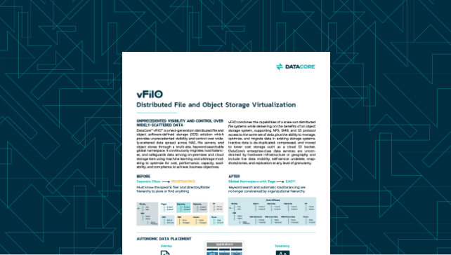 vFilO: Distributed File and Object Storage Virtualization
